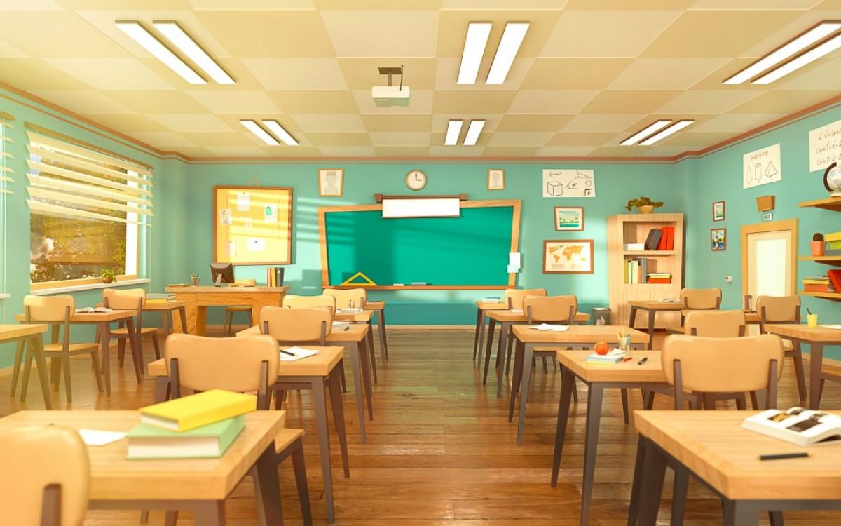 leeg klaslokaal onderwijs