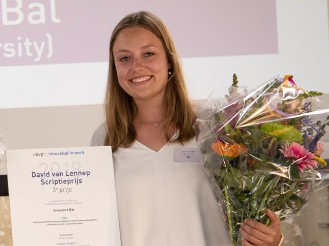 Anneloes Bal wint David van Lennep Scriptieprijs