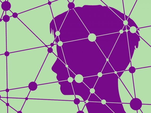 netwerk hoofd abstract