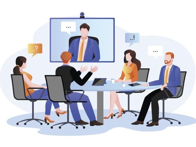 Hybride meeting online en offline